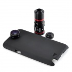 Buy 10X Telescope + Fisheye Macro Wide Angle Lens Set Samsung Note 2 / N7100 - Black Red