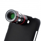 10X Telescope + Fisheye + Macro + Wide Angle Lens Set for Samsung Note 2 / N7100 - Black + Red