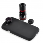 Buy 10X Telescope + Fisheye Macro Wide Angle Lens Set Samsung Galaxy S3 / i9300 - Black Red