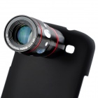 10X Telescope + Fisheye + Macro + Wide Angle Lens Set for Samsung Galaxy S3 / i9300 - Black + Red