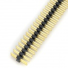 LSON 2.0mm 2 x 40 Pin Headers - Black + Golden (10 PCS)