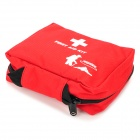 HIGHSEE 1001 Convenient Outdoor Nylon Bag for First Aid Materials - White + Red