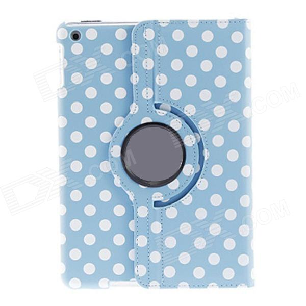 Kinston Round Dots Pattern 360 Degree Rotating PU Leather Case Cover Stand for IPAD AIR - Sky BlueIpad Cases<br>Form ColorSky Blue + WhiteBrandKinstonModelkst00966Quantity1 DX.PCM.Model.AttributeModel.UnitMaterialPU Leather + PlasticShade Of ColorBlueCompatible ModelsIPAD AIRStyleFull Body Cases,Flip OpenDesignMixed Color,Graphic,With Stand,Polka DotAuto Wake-up / SleepYesOther FeaturesProtects your device from scratches, dust, shock and abrasion; 360 degree stand for comfortable viewingPacking List1 x Protective case<br>