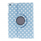 Kinston Round Dots Pattern 360 Degree Rotating PU Leather Case Cover Stand for IPAD AIR - Sky Blue