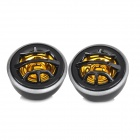 TP-077 DIY 130W Car Stereo Speaker Dome Tweeter - Black + Golden (2 PCS)