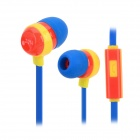 2014 World Cup Spain Style 3.5mm In-ear Earphone w/ Microphone for IPHONE / Samsung / HTC (117cm)