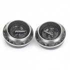 P-T380L DIY 180W Car Stereo Speaker Dome Tweeter - Black (2 PCS)