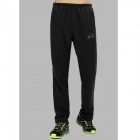 Wind Tour Men's Outdoor Sports Wind-proof Polyester Fiber Pants - Black (L)