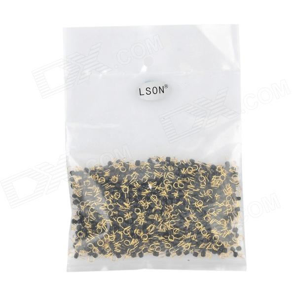 где купить LSON Gold-plated Copper PCB Test Points - Golden + Black (1000 PCS) дешево