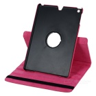 Kinston 360 Degree Rotation Protective PU Leather Case Cover Stand for IPAD AIR - Deep Pink