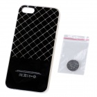 Griglia modello LED Flash Color Changing protettiva ABS di caso per IPHONE 5 / 5S-Black (1 x CR2016)