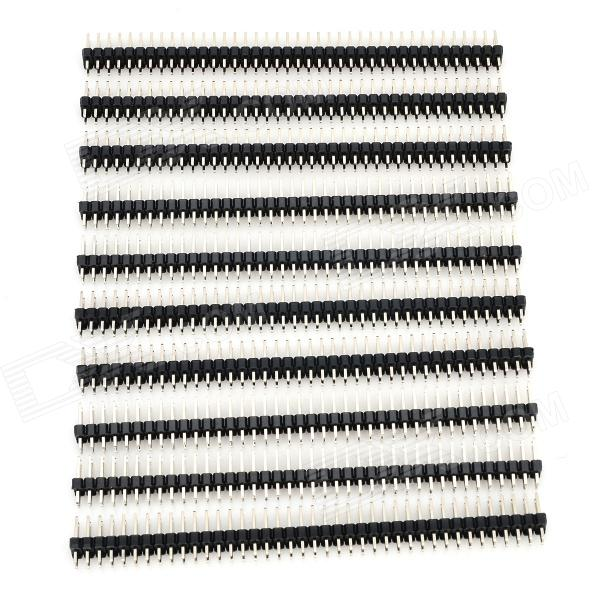 LSON 2.54mm 2 x 40P Pins - Silver + Black (10 PCS)