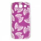 Kinston Butterfly Pattern Hard Back Case for Samsung Galaxy S3 i9300 - White + Brown
