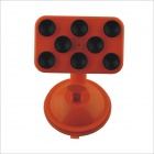 Household / Car 360 Degree Rotation Suction Cup Multifunctional Holder for Cellphone - Orange +Black