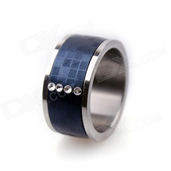 Smart Ring With NFC For Smart Phone / Unlock Door   Blue + Silver  (Circumference 54mm)