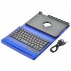 Kinston 360 Degree Roterbar PU Lærveske Dekselstativ + Bluetooth V3.0 Tastatur for iPad MINI