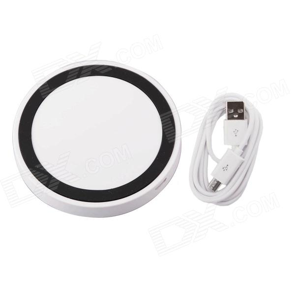 T2 Mini QI Wireless Charger Pad for LG E960 Google Nexus 4 2G Nokia Lumia 920 - White + Black universal qi wireless charger for cellphone white eu plug