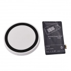 T2 Wireless Charger Pad + Wireless Charger Receiver for Samsung Galaxy Note 2 N7100 - White + Black