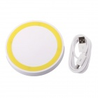 T2 Mini QI Wireless Charger Pad for LG E960 Google Nexus 4 2G Nokia Lumia 920 - White + Yellow