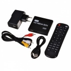 MP013-F10 Mini 1080p Full HD Player w / HDMI / SD / USB + telecomando - nero + bianco