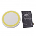 T2 Wireless Charger Pad + Wireless Charger Receiver for Samsung Galaxy Note 2 N7100 - White + Yellow