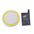T2 Wireless Charger Pad + Wireless charger Receiver for Samsung Galaxy S4 i9500 - White + Yellow