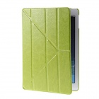 Kinston Creative Design Transformable PU Leather Case Cover Stand w/ Auto Sleep for IPAD AIR - Green