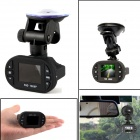 Mini 1080P 1.5' TFT 5.0MP CMOS 160 Degree Car DVR w/ G-Sensor / IR Night Vision / 8GB TF / 12-LED