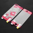 Kinston Red Lip Protective Plastic Sticker for IPHONE 5 - White + Red