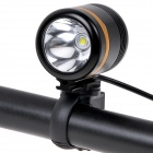 NEW-H1 Cree XM-L2 800lm 6-Mode White Bicycle Light w/ 6000mAh Power Bank - Black + Golden