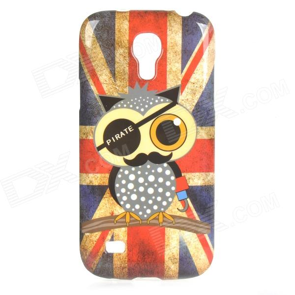 Pirate Owl Pattern UK National Flag Style TPU Case for Samsung Galaxy S4 Mini i9190 - Red + Blue 3 in 1 fish eye macro wide angle clip lens white black