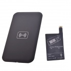 QI Wireless Charger Pad + Wireless Charger Receiver for Samsung -Black