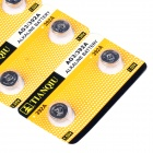 TianQiu AG3 / 392A / LR41 1.55V Alkaline Cell Button Battery - Silver (10 Packs / 100 PCS)