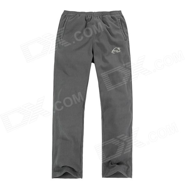 Wind Tour Outdoor Windproof Warm Mountaineer Long Pants for Men - Grey (Size XL)