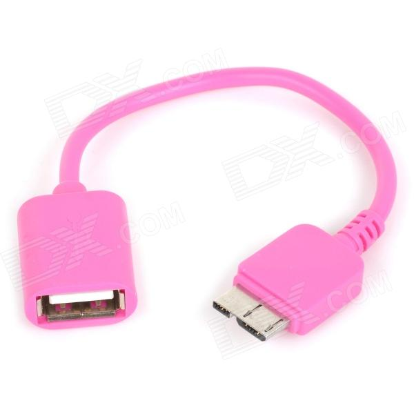 Stylish OTG Cable for Samsung Galaxy S5 - Pink