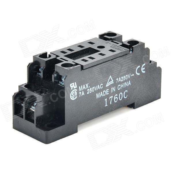 PYF08A-E media CA 250V 7A Relay Socket - negro