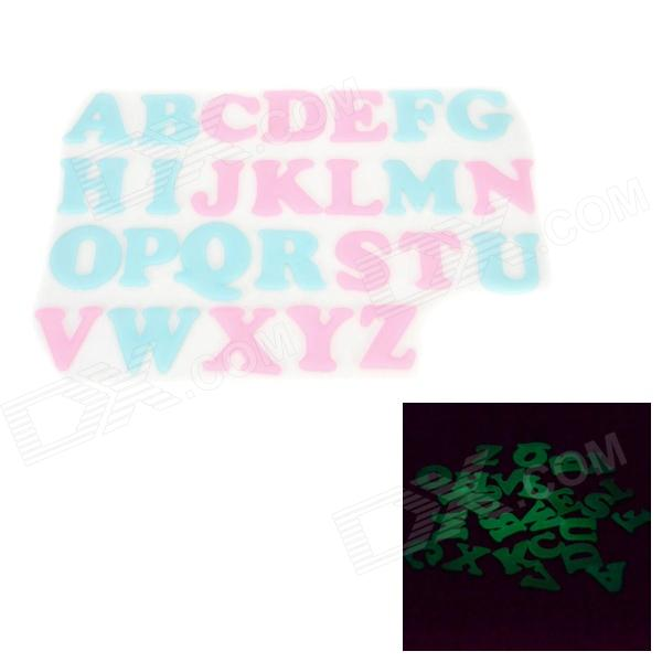 WB-03131 DIY Glow-in-the-Dark Educational 26 English Alphabet 3D Wall Stickers (26 PCS)