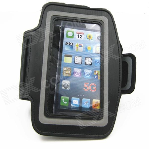 IDOMAX Sport Gym Running Sweat Proof Armband Strap Case Cover for IPHONE 5 / 5S - Black - DXArmbands<br>Color Black Brand IDOMAX Model IP01 Material Velcro Quantity 1 Piece Shade Of Color Black Compatible Models IPHONE 4S / 5 / 5S Band Length 45 cm Packing List 1 x Armband<br>