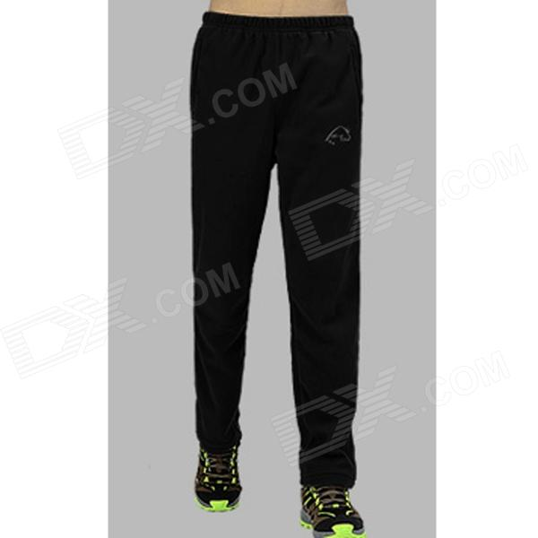 Wind Tour Men's Outdoor Sports Wind-proof Polyester Fiber Pants - Black (XXL)