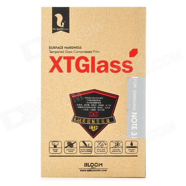 HELLO DEERE Tempered Glass Clear Screen Guard Film Set for Samsung Galaxy Note 3