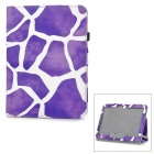 l-56 Flip-Open Patterned PU Leather Case for Samsung Galaxy Tab 3 10.1 P5200 - Taro Purple + White