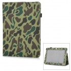 l-55 Flip-Open Patterned PU Leather Case for Samsung Galaxy Tab 2 P5100 - Army Green Camouflage