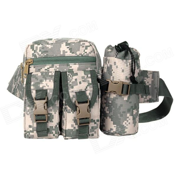 D5 1005 Convenient Outdoor Tactic Nylon Waist Bag - ACU Camouflage (20L)