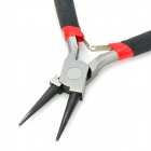 "WLXY WL-4.5"" Carbon Steel Mini Round Nose Pliers - Black + Grey"