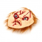 JMG001 Scary Scarred Face Chucky Mask för Halloween / Kostymparty-beige + röd