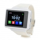 "ZF03 GSM Wrist Watch Phone w/ 1.77"" Screen, Quad-band and Bluetooth V2.1 - White + Silver Grey"