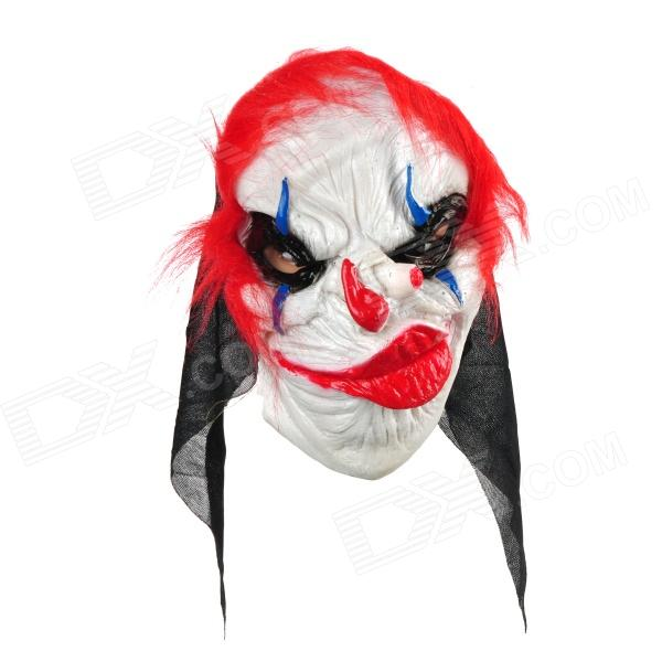 HMXC001 Scary Funny Clown Style Mask for Costume Party / Halloween - White + Red