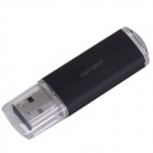 Ourspop U510 Indicator Light USB 2.0 Flash Drive - Transparency + Black (8GB)