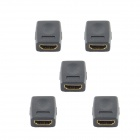 HZDZ Mini HDMI Female To Female Adapters - Black (5 PCS)
