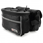 Outdoor Cycling Oxford Bike Top Tube Bag w/ 2-Small Bag - Black